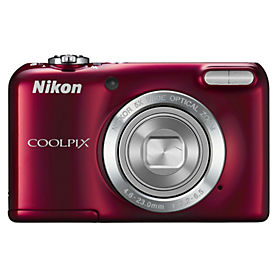 "Nikon Coolpix L27 16.1MP 5x Optical Zoom 2.7"" LCD Red Compact Digital Camera"