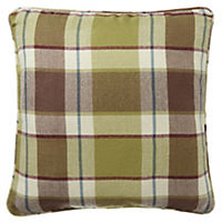by Sainsbury's Green Check Cushion