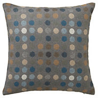 by Sainsbury's Blue Circles Cushion