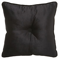 by Sainsbury's Black Square Button Cushion