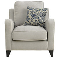 Angelina Chair Sofa with Blue Scatter Cushion