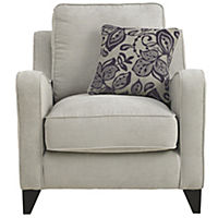 Angelina Chair Sofa with Aubergine Scatter Cushion