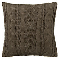 by Sainsbury's Truffle Chunky Knitted Cushion