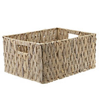 Sainsbury's Large White Wash Water Hyacinth Basket