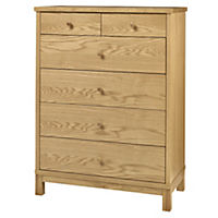 Atlantis Natural 4+2 Drawer Chest of Drawers