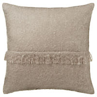 by Sainsbury's Mink Faux Mohair Fringe Cushion