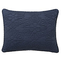 by Sainsbury's Blue Floral Quilted Cushion