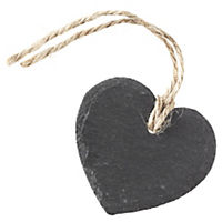 Home Collection Heart Slate Napkin Rings 4-pack