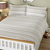 by Sainsbury's Blue Stripe Easy Care Reversible Bed Linen Set