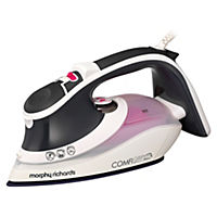 Morphy Richards 301012 Comfigrip Steam Iron Black and Pink