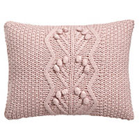 by Sainsbury's Pink Bobble Knitted Cushion