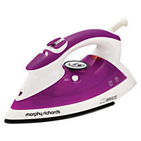 Morphy Richards 300202 Breeze Steam Iron Plum and White