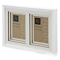 Tu 2-aperture White Frame with Mount