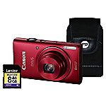 Canon Ixus 140 HS Red Camera Kit inc 8GB SD Card and Case
