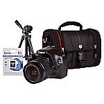 Canon 1100D EOS Digital SLR 12 Megapixel 18-55mm Lens Compact System Camera with 18-55mm Non IS Lens, Desktop Tripod, SLR Bag and 8GB SD Card