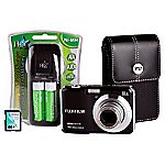 Fujifilm FinePix AX650 16 Megapixel 5x Zoom Black Camera with 4GB SD Card and Case