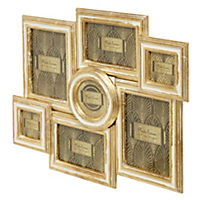 Multi-Aperture Cream & Gold Frame