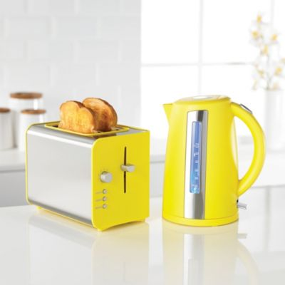 sainsbury 39 s colour 1 7l yellow jug kettle image 3