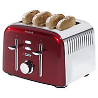 Breville Aurora Red 4-slice Toaster