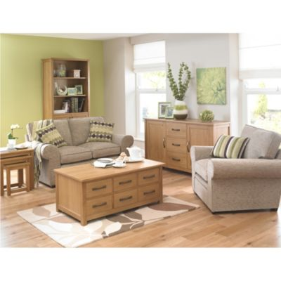 Kensington Oak Veneer Trunk Coffee Table - image 2