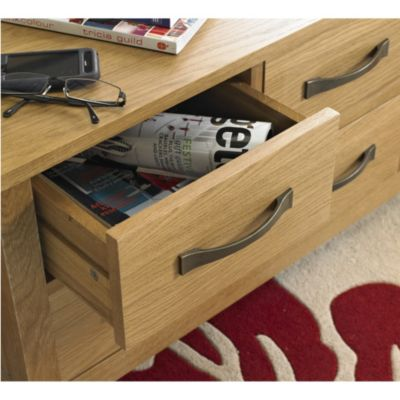 Kensington Oak Veneer Trunk Coffee Table - image 4