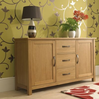 Kensington Oak Veneer Large Sideboard - image 6